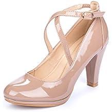 La Push Cala Zapatos Tacón Mujer Rosa Palo