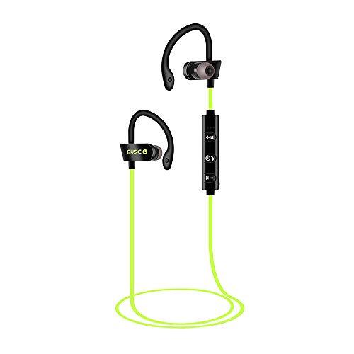 Igemy Wireless BT Headset Headphones Sports Sweatproof Stereo Earbuds Earphone (Grün)