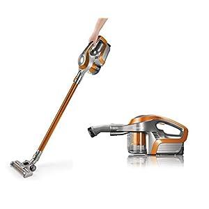 Akku Staubsauger | Elektrobürste mit Direktantrieb auch für Tierhaare | 30 Minuten Laufzeit | 2-in-1 Handstaubsauger & Bodenstaubsauger | 150 Watt