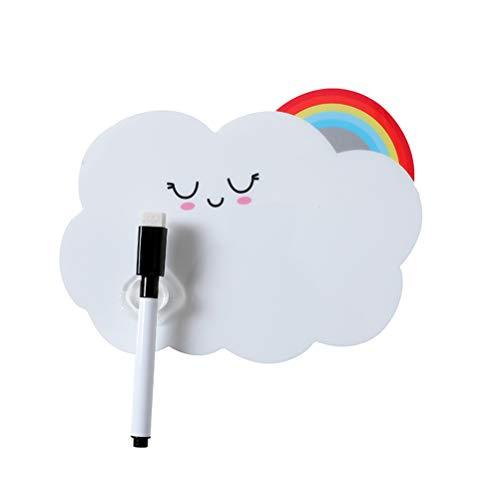 UPKOCH Eagnetic trocken abwischbares Whiteboard-Blatt Kühlschrankmagnet Kühlschrank Aufkleber resistente Technologie Radiergummi (Rainbow Cloud)
