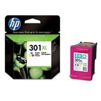 HP 301XL Tri-color Ink Cartridge - Cartucho de tinta para impresoras (Cian, magenta, Amarillo, Tri-color, Inyección de tinta, 20-80%, -40-60 °C, 15-32 °C) Si