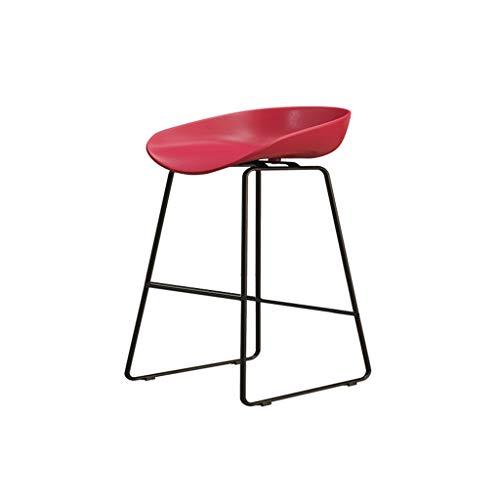 Eisen Barhocker Industrial Style für Küche und Restaurant Barhocker Sitzhöhe 75 cm / 65 cm / 45 cm Rot - Eisen Barhocker