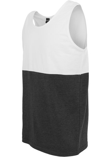 URBAN CLASSICS Block Jersey Big Tank, white/charcoal White/Charcoal