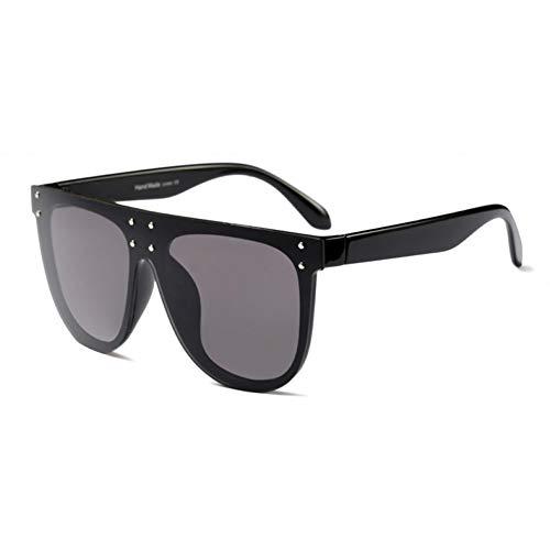 Kjwsbb Flat Top Sonnenbrille Oversize-Brille Mens Square Sonnenbrille Frauen Famous Rivet Black Eyewear