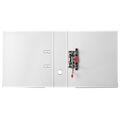 Herlitz 9942681 Ordner maX.file protect A4 8cm weiß, PP-Kunststoffbezug/Papier hellgr.besch. 5er Packung - 5