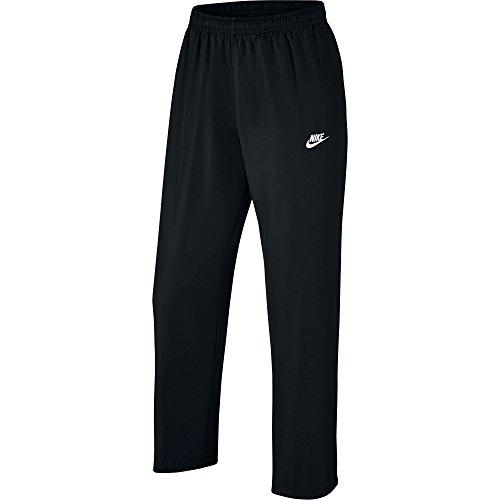 Nike Herren Open Hem Woven Hose schwarz / weiß