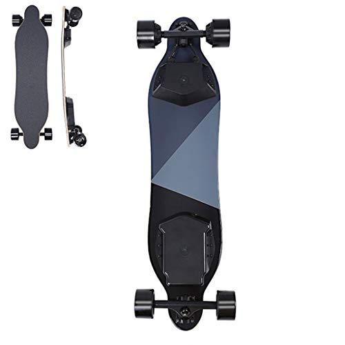 DIMPLEYA E Skateboard Elektrisches Longboard 40 Km/H Steigung 25 ° -30 ° Hochwertiger Bambus + Fiberglas Geräuschloses Material Tragbar Erwachsene Unisex Leicht