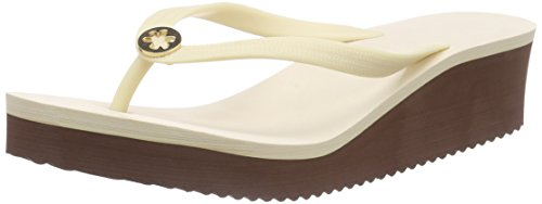 flip*flop Goldflower High, Tongs femme Blanc Cassé - Elfenbein (858)