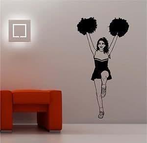Online Design Riesig Cheerleader Kinder Wanddekor Aufkleber Vinyl Schlafzimmer Sport Lounge - Marine
