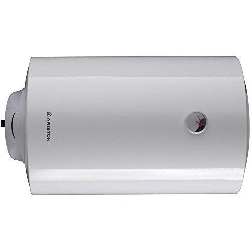 Ariston thermo 3200965 scaldabagno elettrico pro 80 h/3 erp con accumulo orizzontale 3 anni di garanzia, bianco