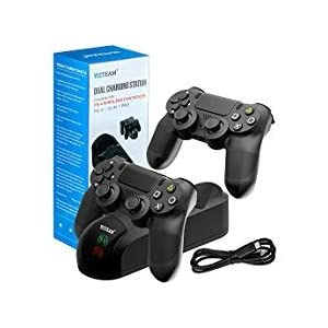PS4 Controller Ladestation, Dual Shock 4 Controller Ladegerät PlayStation 4 Twin Charge Dockingstation für Sony PS4…