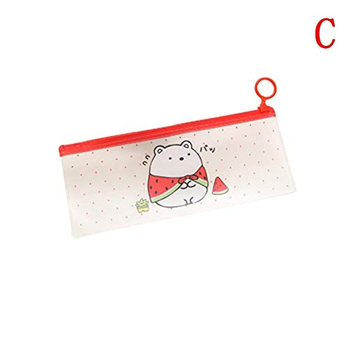 Federmäppchen Pfirsich Bus In Downtown Casual Chic Multicolor Cartoon Kaninchen Bleistift Stationery Wasserdicht Bleistift Staubbeutel Blau (Color : Rot, Size : One Size)