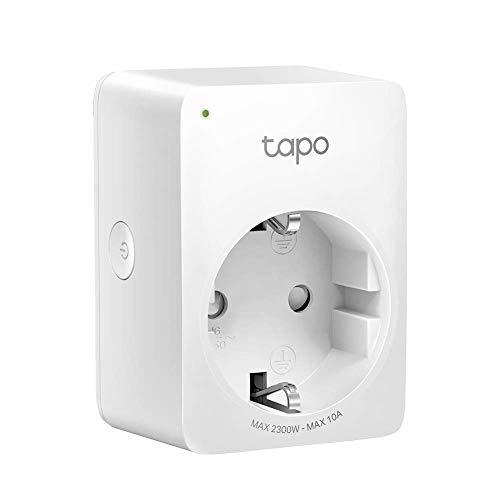 TP-Link Tapo P100 - Enchufe Inteligente para Controlar sus Dispositivos desde Cualquier Lugar, sin Necesidad de Concentrador, Funciona con Amazon Alexa y Google Home e IFTTT
