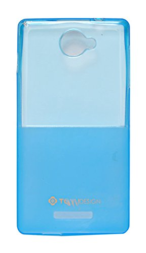 ECellStreet Exclusive Semi Transparent Soft Back Case Cover Back Cover for Panasonic P55 - Blue