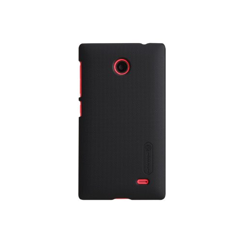 Nillkin Frosted Shield Hard Bumper Back Case Cover ForNokia X X+ Dual Sim Plus Android A110 & Free Nillkin Screen Guard - Black  available at amazon for Rs.365
