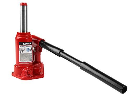 Eufab 21034 Hydraulik Wagenheber 2000kg, Sicherheitsventil, Hubhöhe 158 mm bis 308 mm, TÜV-GS