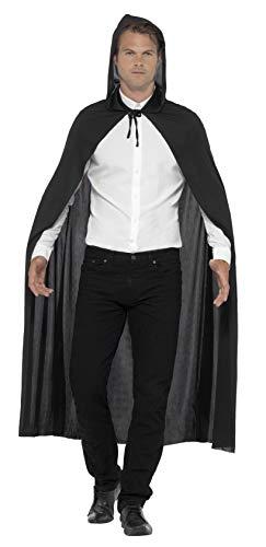Smiffys 21311 - Mit Kapuze Vampir Cape, Kostüm, schwarz