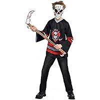 Amscan - Disfraz de jugador de hockey ensangrentado para Halloween, para niños de 12-14 años