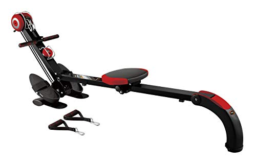 Body Coach Rudergerät ROWER NGYM BR-3010 Ruderzugmaschine & universelles Trainingsgerät für Rudertraining, Fitness und Tube-Training grau / silber / schwarz