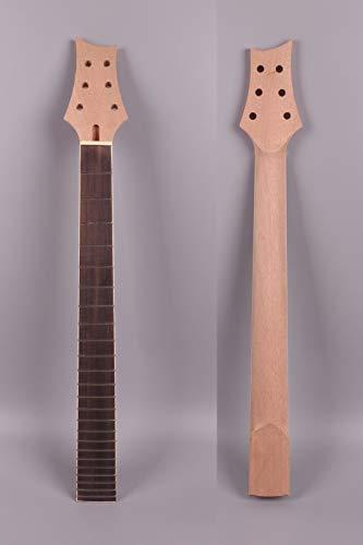 FidgetGear - Cuello de repuesto para guitarra eléctrica (24 trastes, 25 – 1/2 pulgadas, para PRS sin incrustaciones #P09)