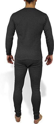Sehr warme Thermo Unterwäsche - Ski Sportunterwäsche Garnitur - Unterhose und Hemd Thermounterwäsche von normani Anthrazit