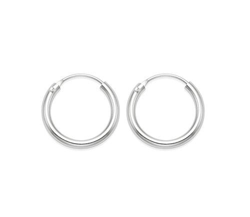 Heather Needham Silver - Orecchini a cerchio piccoli, in argento puro, con chiusura a incastro, 1cm x 1,cm - 1 paio (2 pezzi) 6224