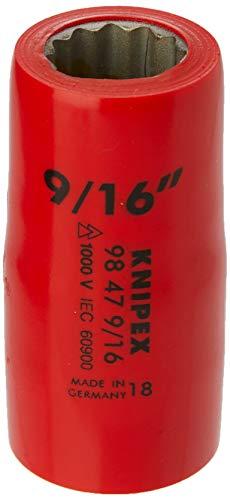 Knipex 98 47 9/16 Steckschlüsseleinsatz 9/16 Zoll, Länge in mm: 55, 1 Stück