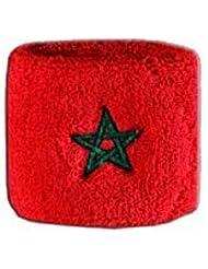 Digni® Poignet éponge avec drapeau Maroc, pack de 2
