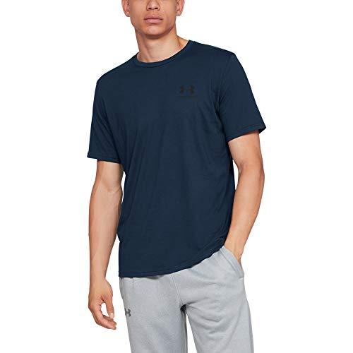 Under Armour Herren UA Sportstyle Kurzarm,T-Shirt ,Blau (Dark Blue),XL - Athletic-trikot Sport-shirt