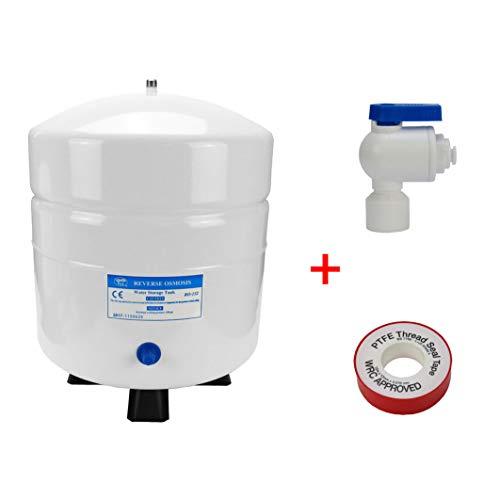 Wassertank Osmosetank aus Stahl 3,2 Gallonen ca. 12 Ltr. brutto - Vorratsbehälter + Tankhahn + Teflonband