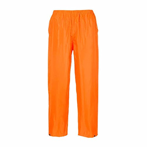 Portwest Klassische Regenhose, für Erwachsene, klassischer Schnitt, M, grau orange