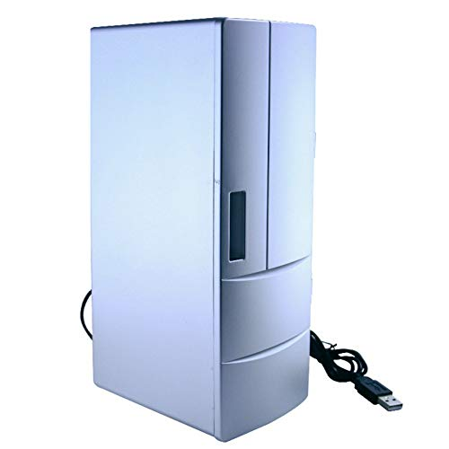 HWG Mini Frigorífico Refrigerador del Automóvil Interfaz USB Caja Congelada Refrigerado Calefacción...