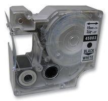 NON OEM 1 x Dymo D1 45803 Beschriftungsband (schwarz auf weiß) für DYMO2000, 3500, 5500, LabelManager 100, 160, 200, 210D, 220P, 260P, 280 PnP, 300, 350, 350D, 360D, 400, 420P, 450, 450D, 500TS, PC, PC II, PnP Wireless, LabelPoint 150, 250, 300, 350, LabelWriter 400 Duo, 450 Duo Etikettendrucker