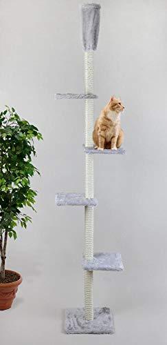 Cat Dream Katzenkratzbaum, Kratzstamm, Kratzturm, Kratzbaum raumhoch, in grau, Höhe: ca. 230-260 cm