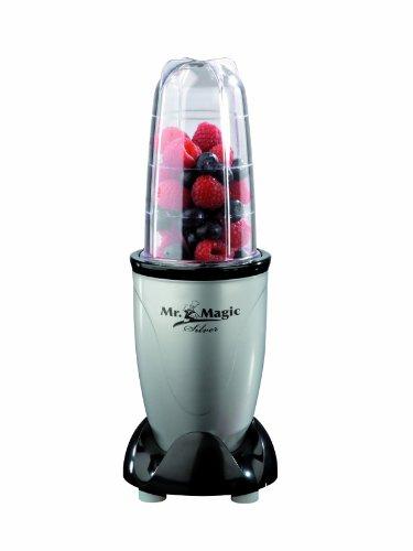 GOURMETmaxx 04389 Mixer Mr. Magic | Ideal für Smoothies & Cocktails | 4 teiliges Set | 8 Funktionen | 400 Watt | Silber-Schwarz