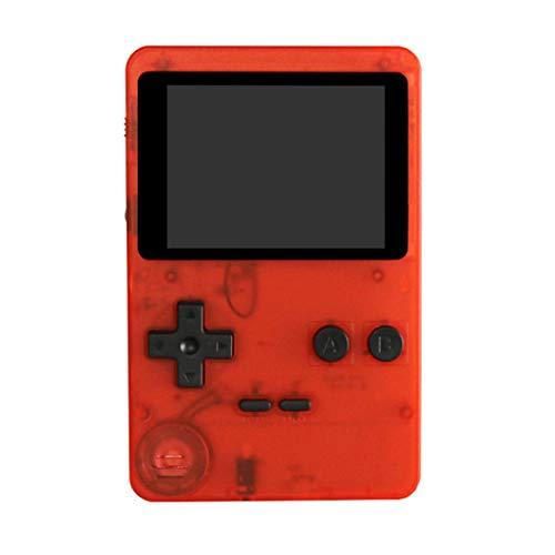 Dkings Tragbares Handspiel,Kinder 2,8 Zoll Konsole für Kinder Eingebaute 200 Spiele Spielzeug Retro Tetris Spielkonsole Klassische Intellektuelles Spielzeug Handheld (Red)