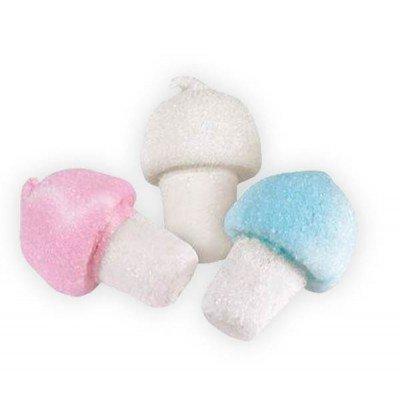 Sindy bomboniere marshmallow bulgari caramelle palle da golf in vari colori e forme a seconda della scelta selezionata (funghi rosa-celeste-bianco)