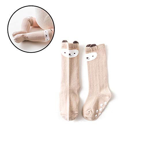 Naisicatar Baby-Karikatur-Tier Fox Cotton Kniestrümpfe Fußboden-Socken Geeignet für Alter 0-1 (AFFE) Nizza Geschenk
