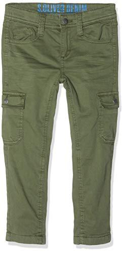s.Oliver Junior Jungen 63.810.73.2043 Hose, Grün (Khaki 7935), 116 (Herstellergröße: 116/SLIM) (Slim Jungen Khaki-hosen)