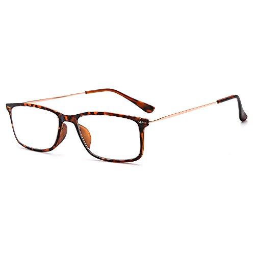 Suertree Lesebrille Ultralight Computer Gläser Frauen Männer schlanke Leser Vintage Edelstahl Frame Brillen 1.5X BM602