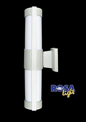 Applique lungo con braccio colore grigio e diffusore in PC opale da esterni