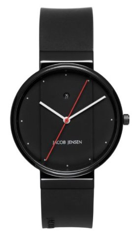 JACOB JENSEN Unisex-Armbanduhr JACOB JENSEN NEW SERIES ITEM NO. 753 Analog Quarz Kautschuk JACOB JENSEN NEW SERIES ITEM NO. 753