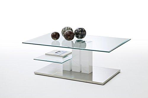 Robas Lund, Couchtisch, Wohnzimmertisch, Nils, Hochglanz/weiß, 110 x 70 x 40 cm, 58625W14