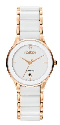 Roamer of Switzerland Women's 677981 49 25 60 Ceraline Saphira Rose gold IP White Ceramic Watch