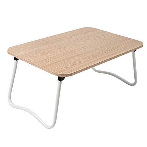 Lszdp-negozio Kompakter Laptop-Schreibtisch, Bett mit kleinem Tisch Klappbarer Schlafsaal Einfacher Laptop-Tisch for Schlafsofa Arbeitszimmer PC-Ständer Tragbarer Ständer for Schlafsofa Eiche 60x40.5x - Picknick-tische Eiche
