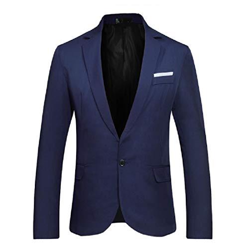 Andopa Herren premium select kerbe revers single button trim-fit blazer S AS1 - Kerbe Revers Single