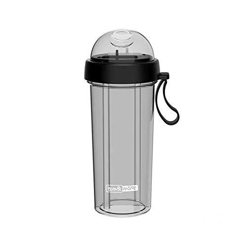 Wasserflasche Doppelschale Getränk Mischschale Milch Tee/Milch/Saft 1 Tasse Für 2 Personen 2 Strohhalme Geeignet Für Paare. 420 Ml / 600 Ml