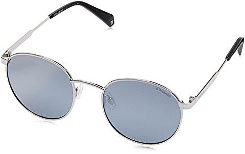 Polaroid Unisex-Erwachsene PLD 2053/S EX 010 51 Sonnenbrille, Silber (Palladium/Greyslv Fl Pz),