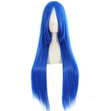 HJL-heißer Verkauf Cartoon Perücke 80cm hohe Temperatur Edelstein ist blau synthetische Perücke , blue