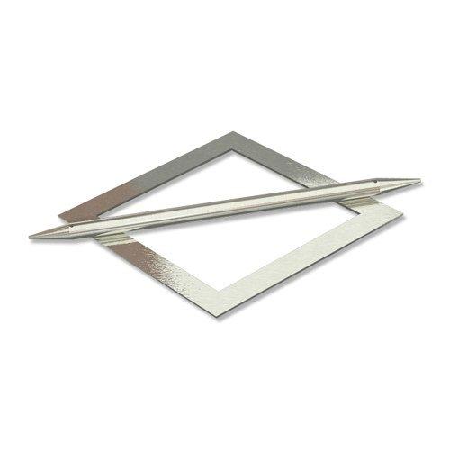 Interdeco Raffspangen / Gardinenspangen (2 Sets) Edelstahl Optik aus Metall, Avos Raute